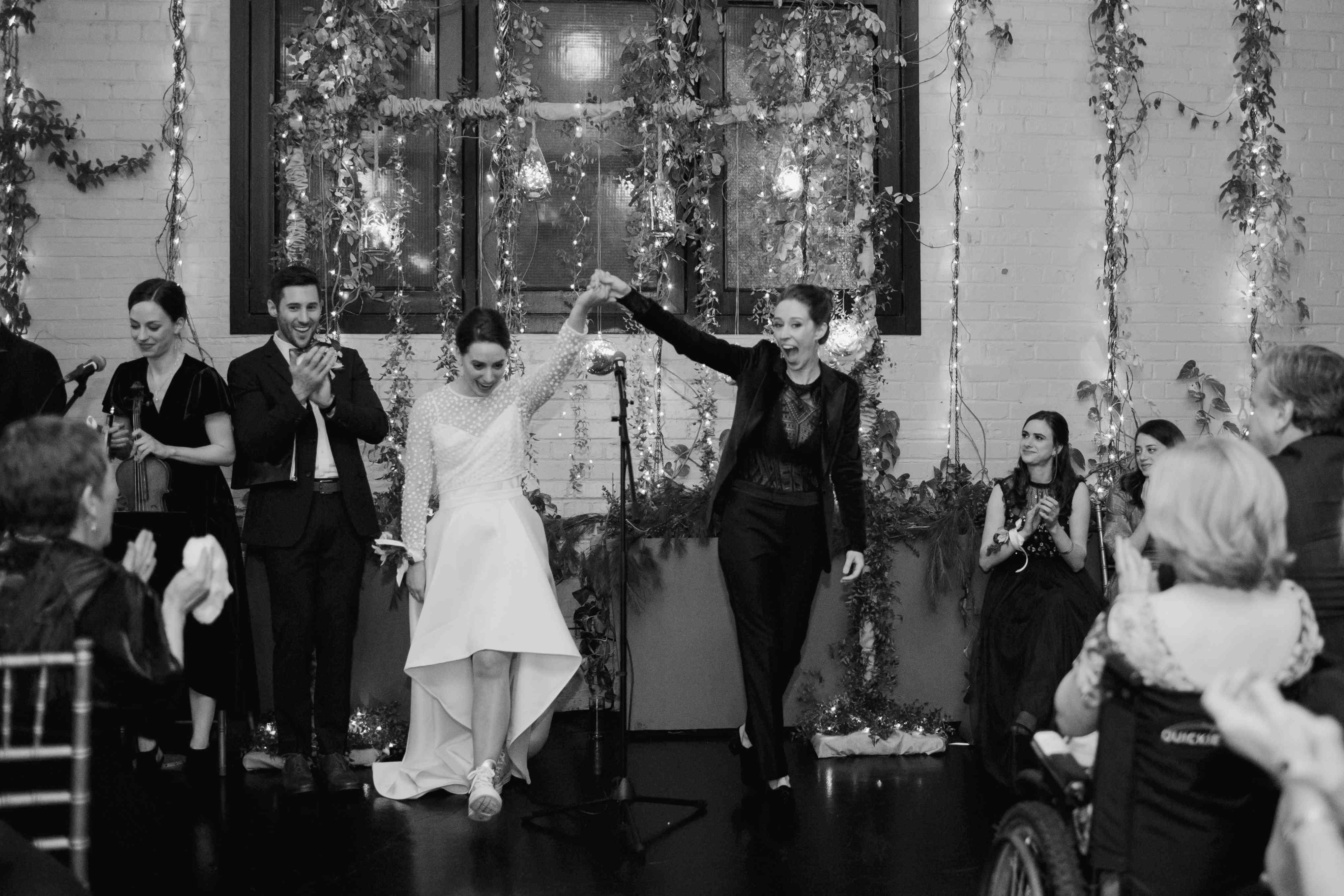 The brides recess down the aisle