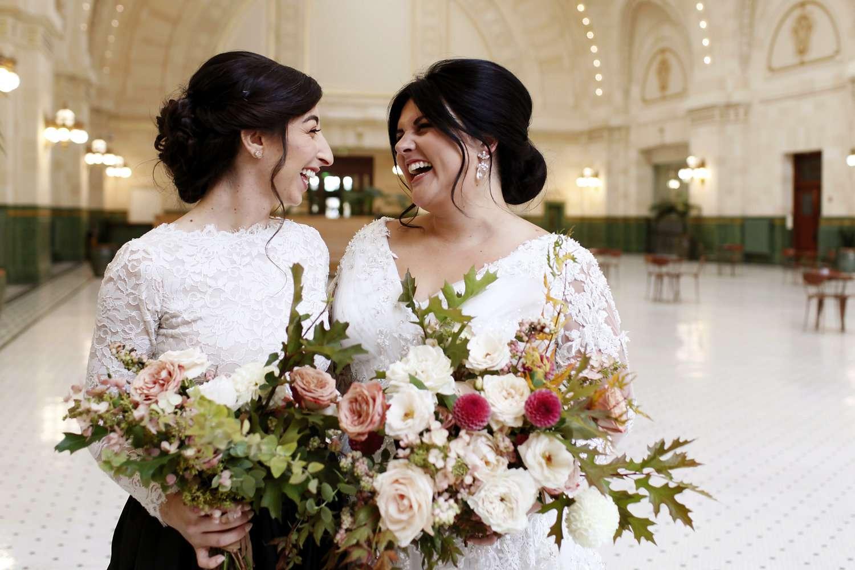 <p>bride with bridesmaid</p><br><br>