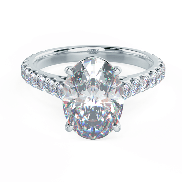 Ada Diamonds Oval Cathedral Pavé Setting