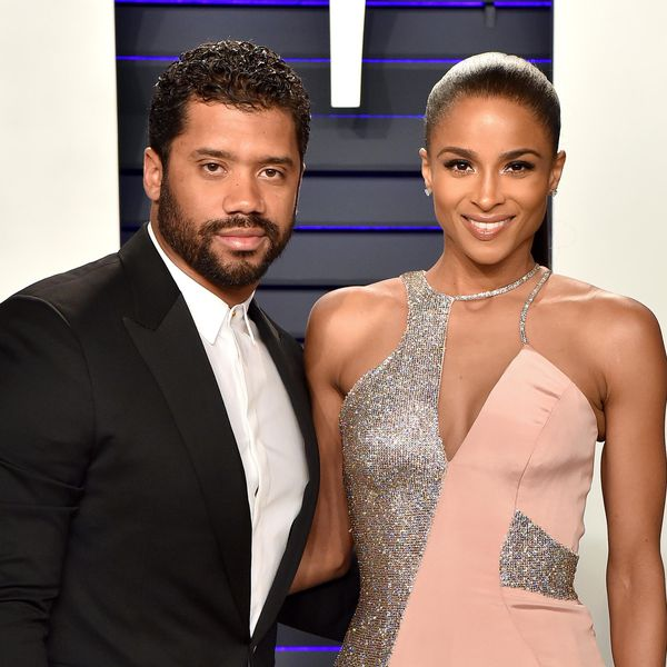 <p>Russell Wilson and Ciara attend the 2019 Vanity Fair Oscar Party</p>