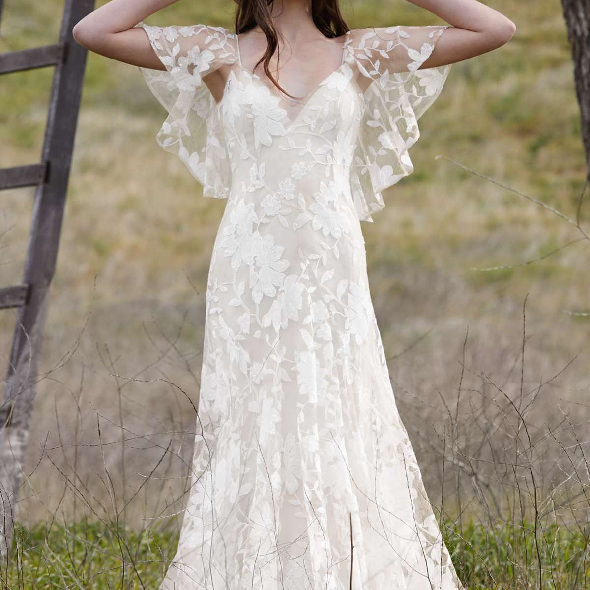 Flutter Sleeves Gown