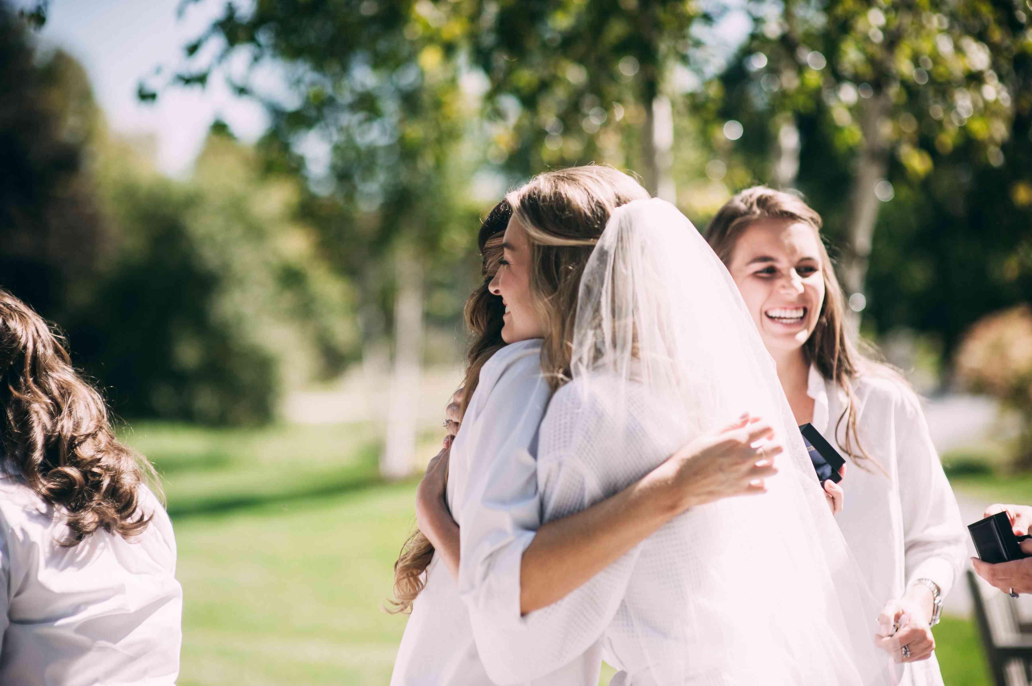 <p>bride greeting guests</p><br><br>