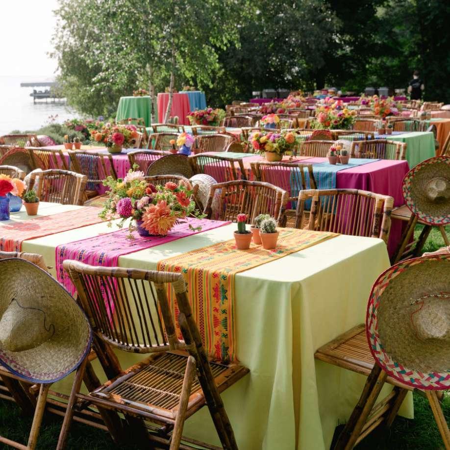 Neon fiesta-themed tablescape