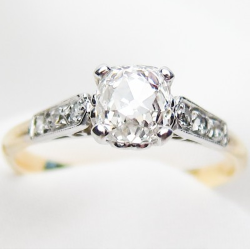 Isadoras Old European-Cut Diamond Engagement Ring