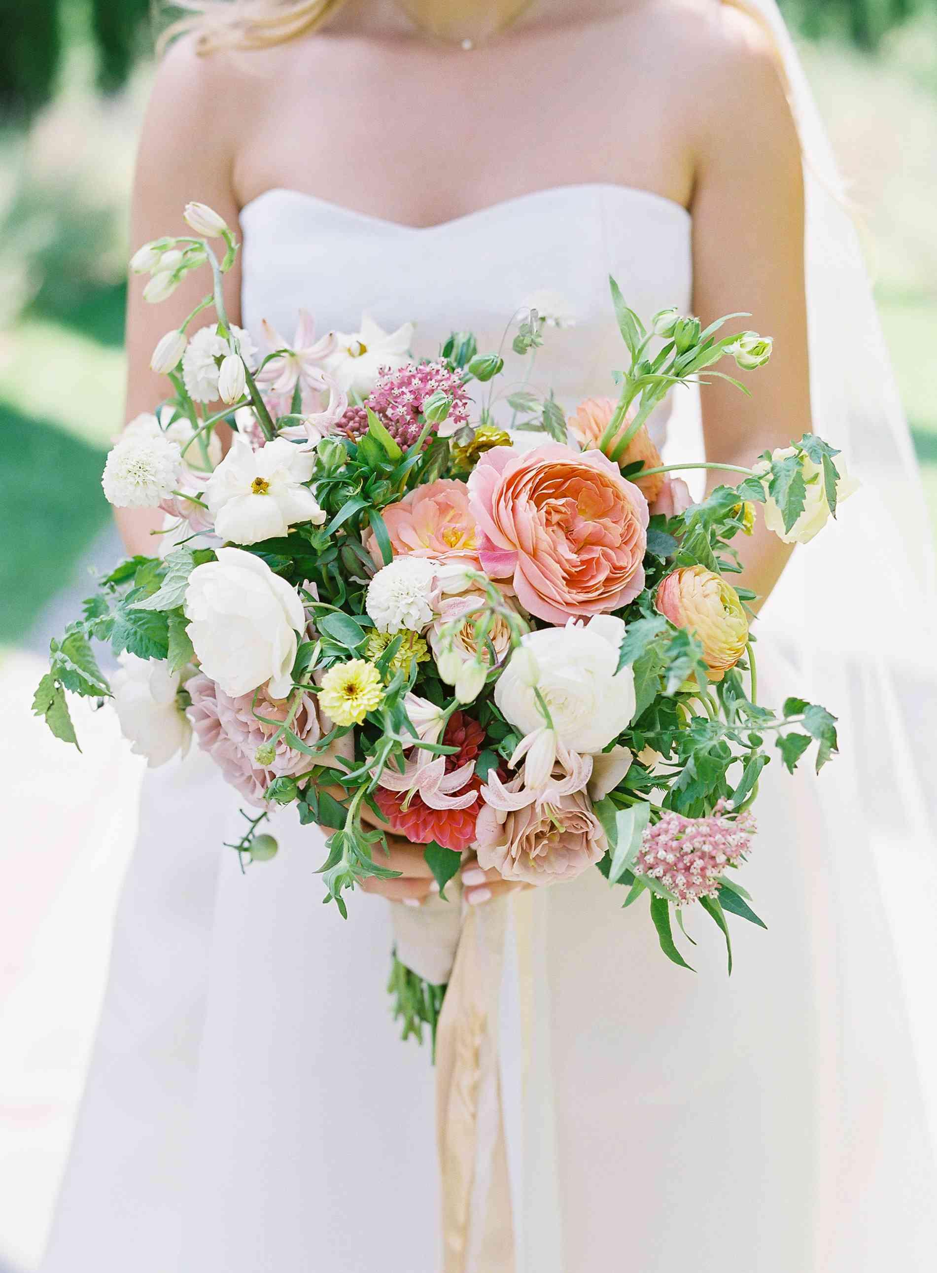Closeup wedding bouquet