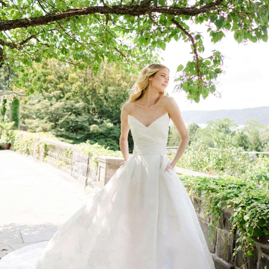 strapless gown Verdin New York