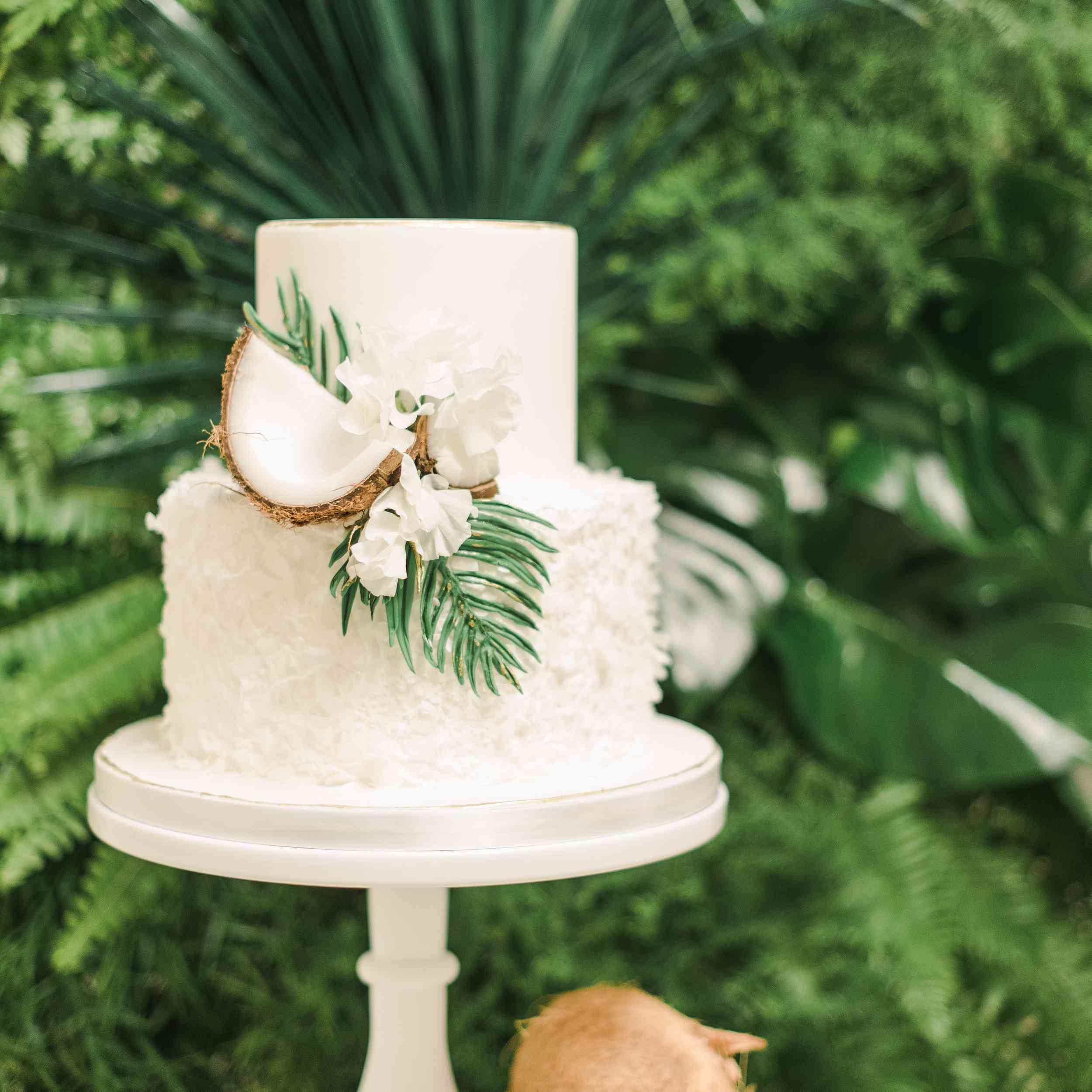 Wedding cake with coconut