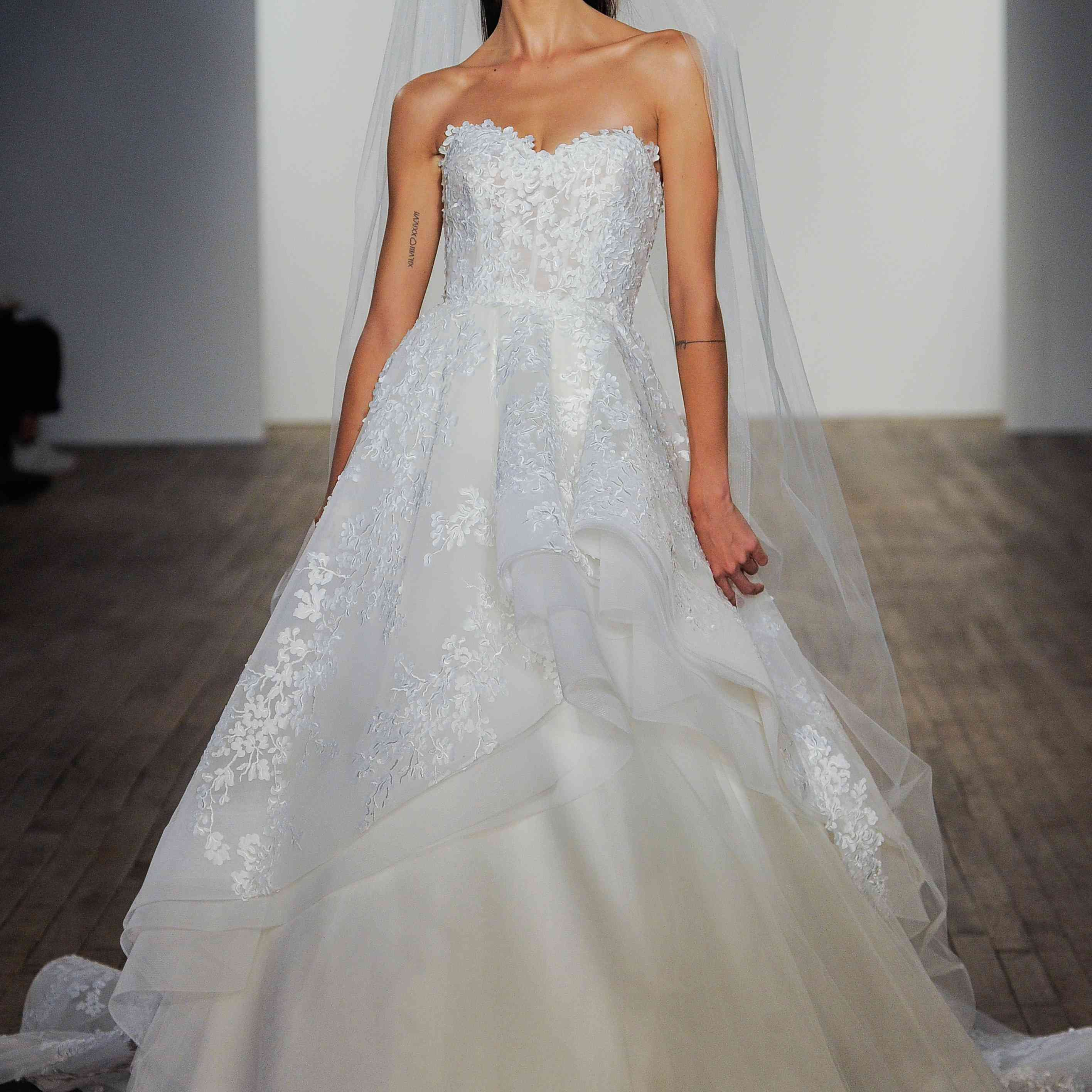 Estee strapless wedding ball gown