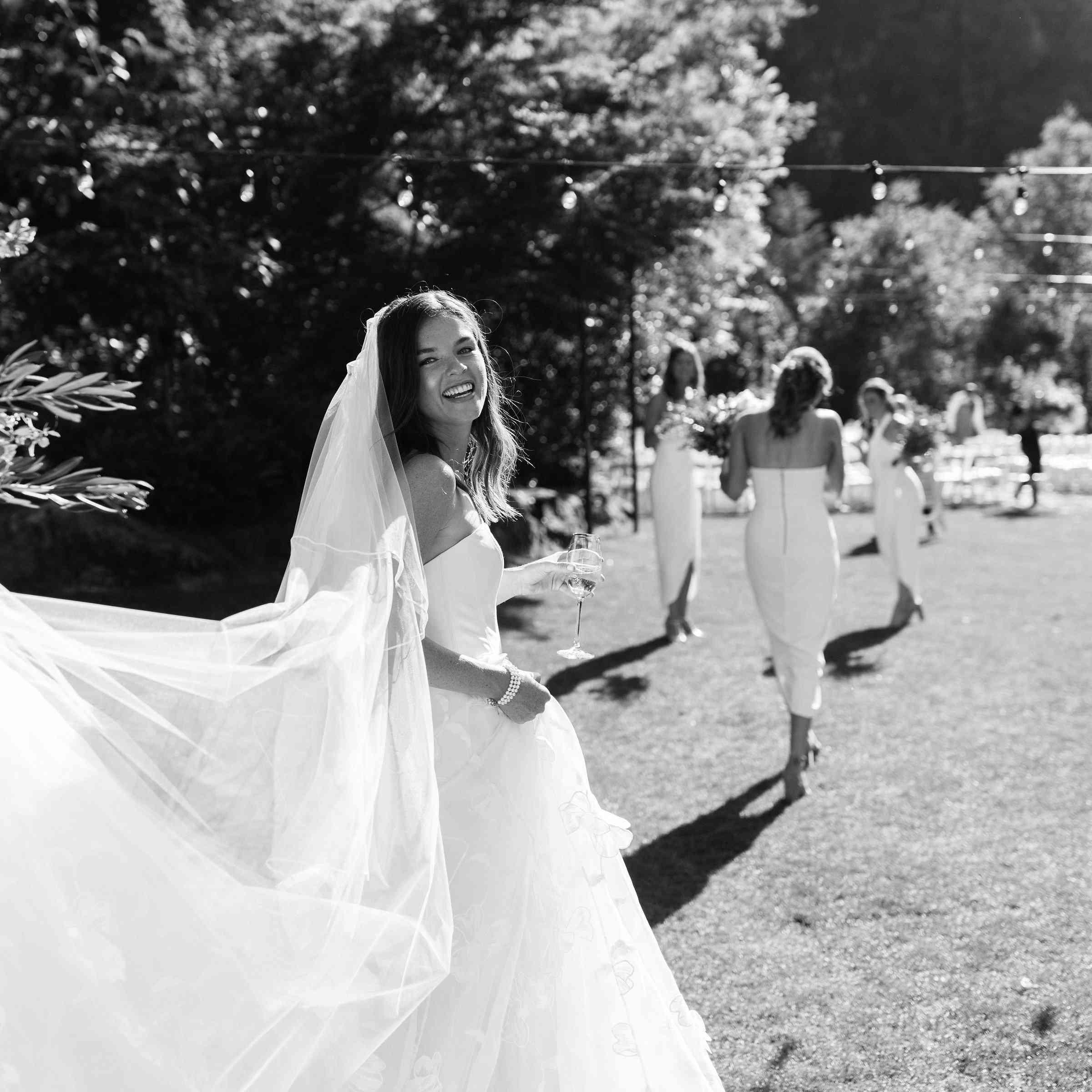 <p>smiling bride</p><br><br>