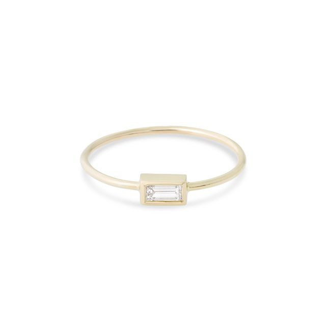 Stone and Strand Small Baguette Diamond Ring