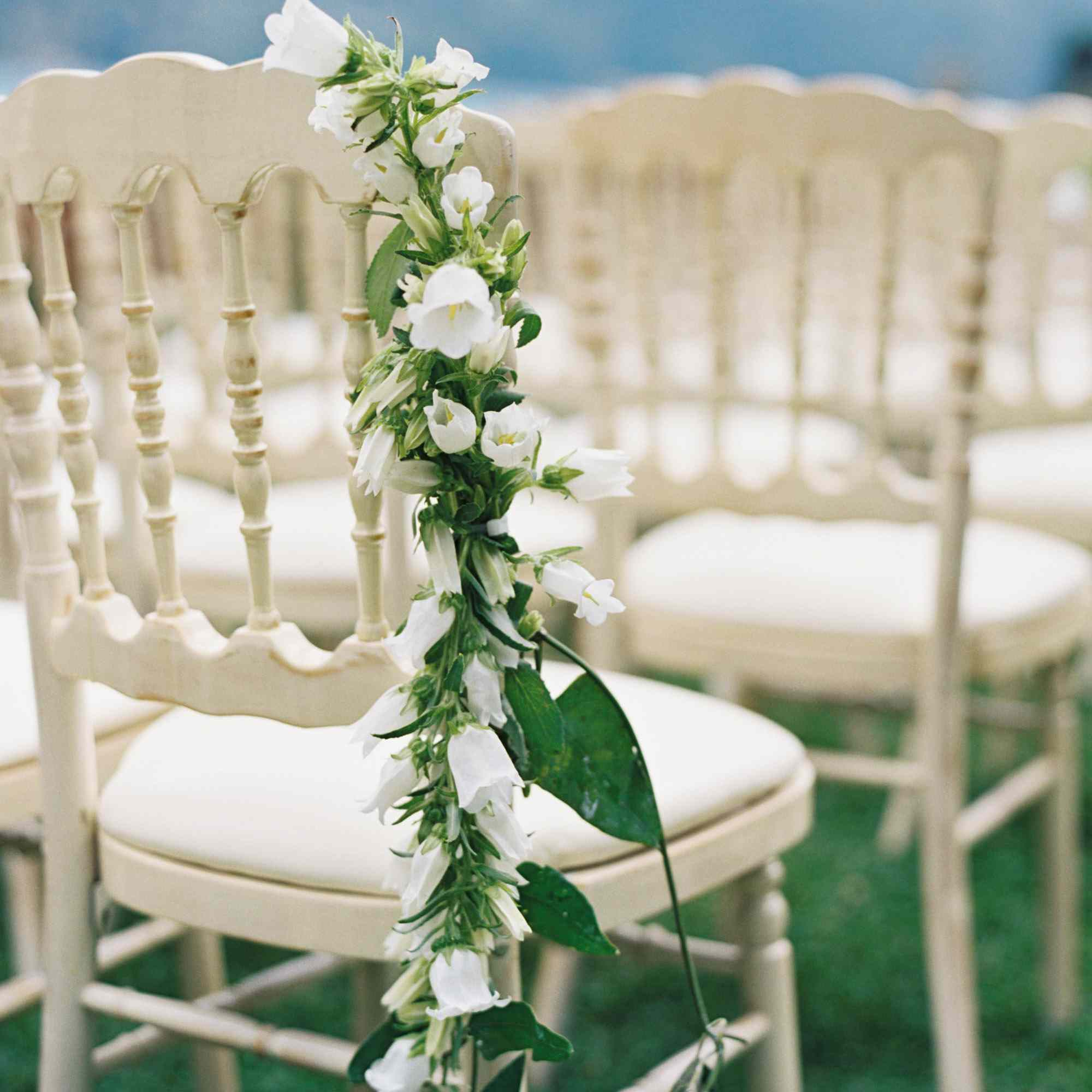 Garland over ceremony chair