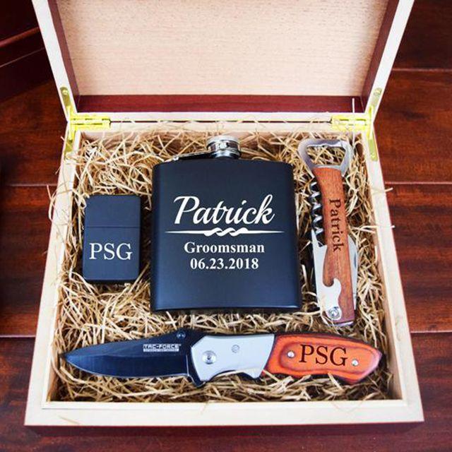 Timeless Treasures USA Groomsman Gift Box from Etsy