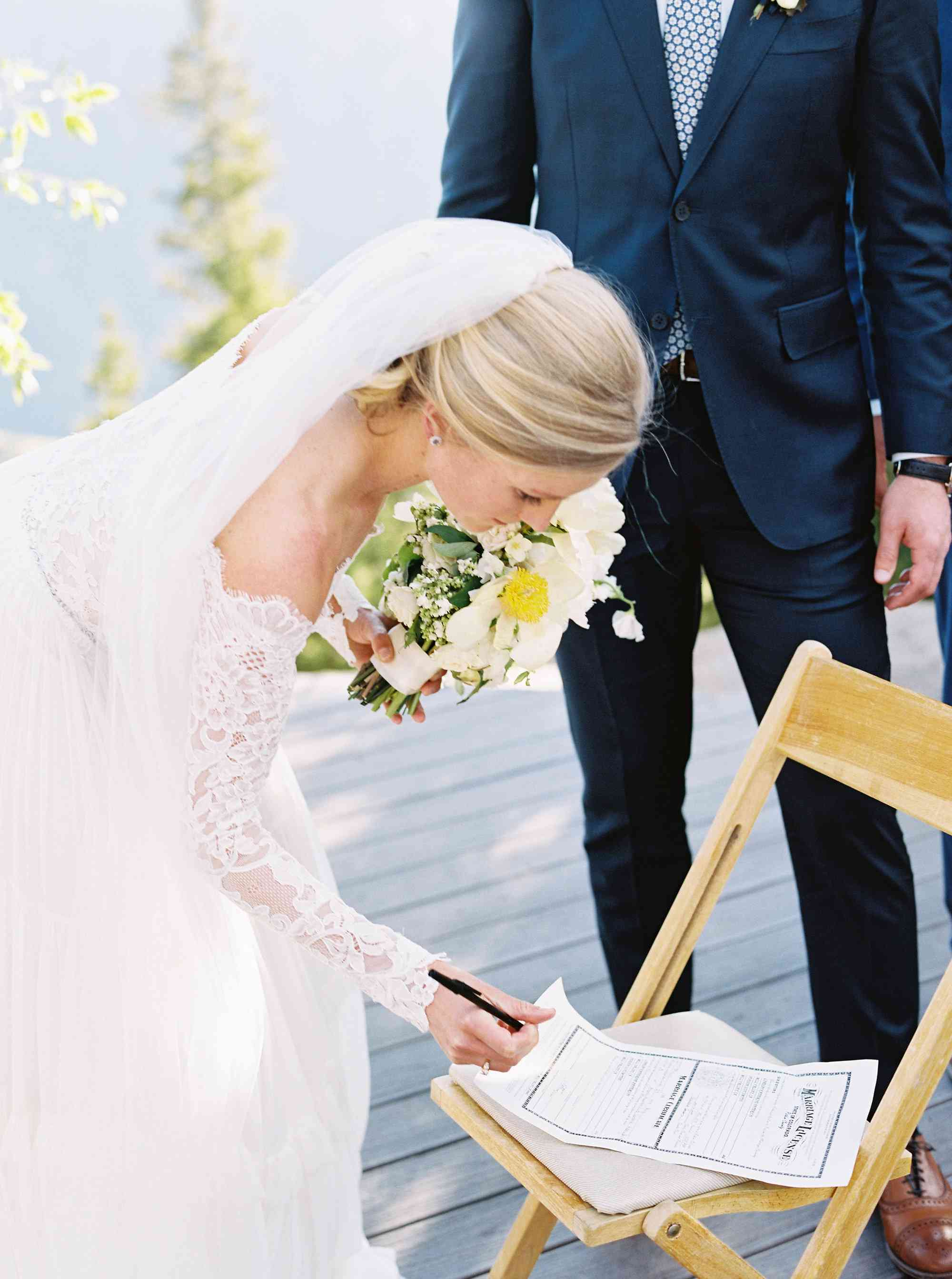 <p>signing marriage certificate</p><br><br>