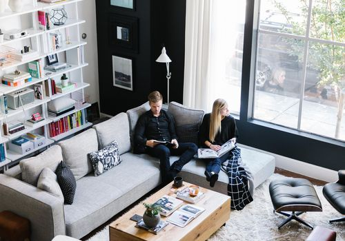 couple in apartment by homepolish
