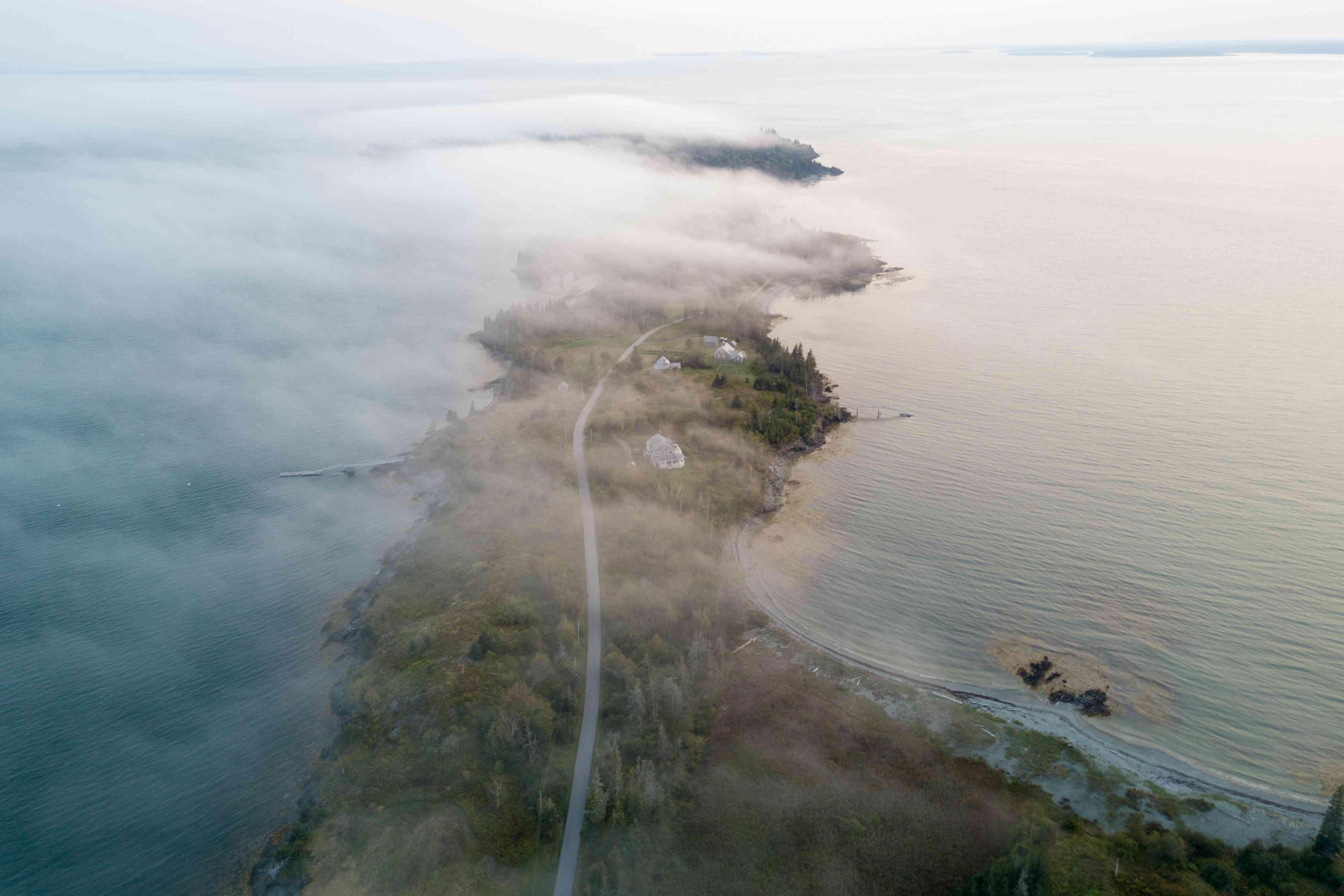 <p>foggy island</p><br><br>