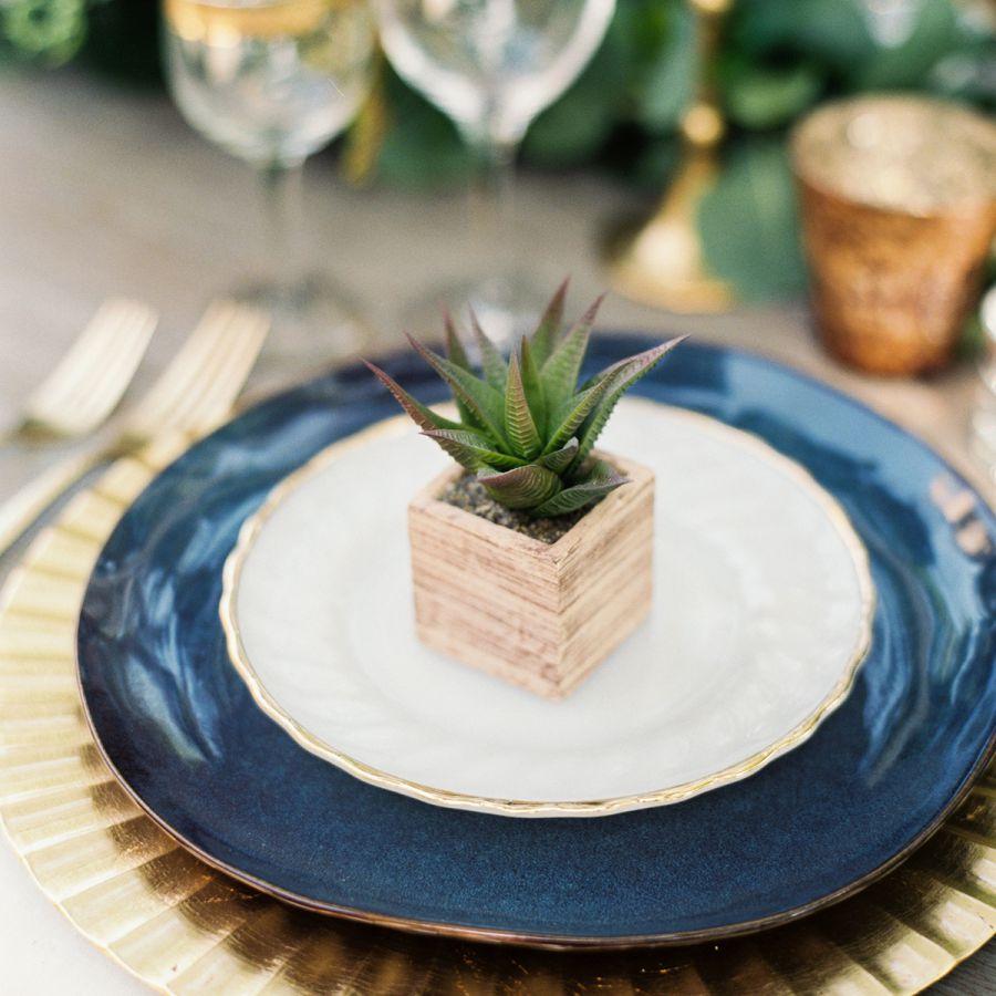 Succulent table settings