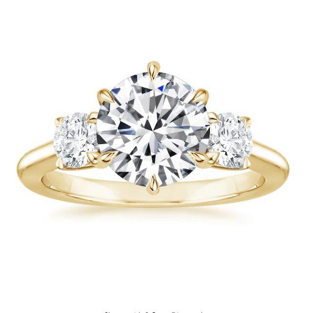 Brilliant Earth Three Stone Catalina Diamond Engagement Ring