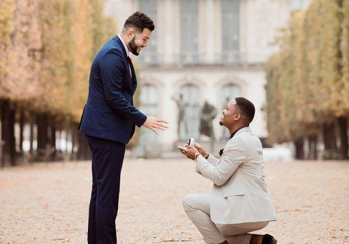 man proposing to man