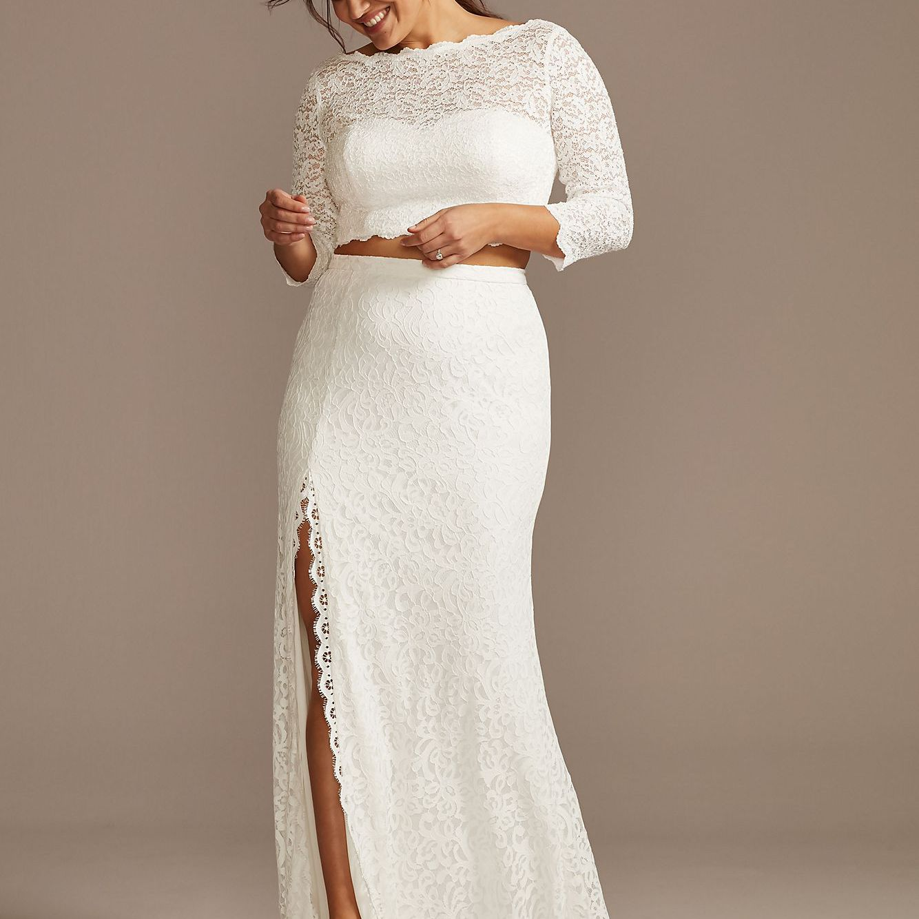 Lace Plus Size Top and Circle Skirt