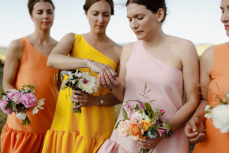 bridesmaids warming rings