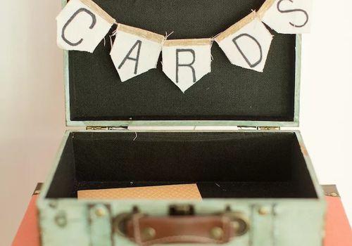 Suitcase Wedding Card Box Idea