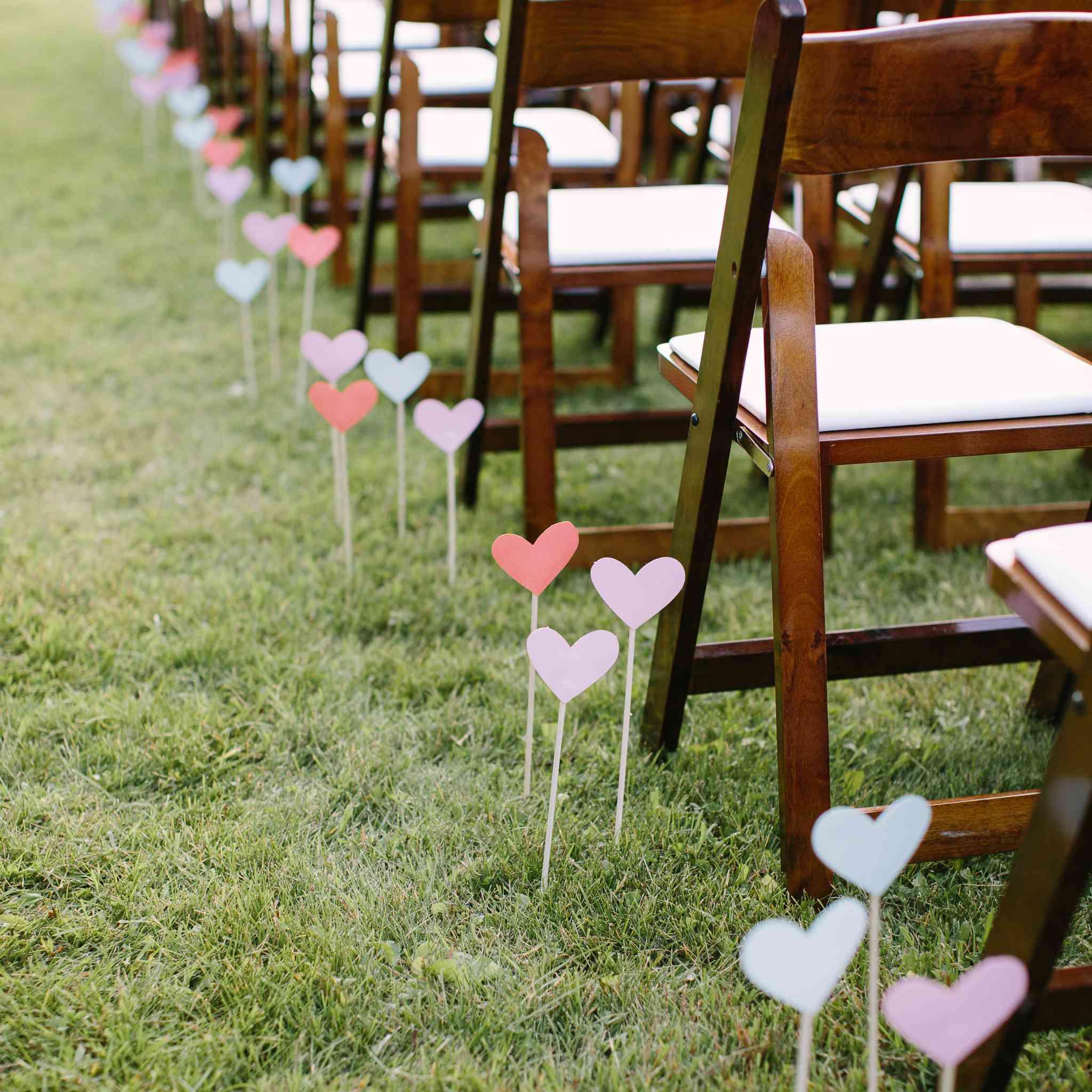 Heart shaped aisle runners
