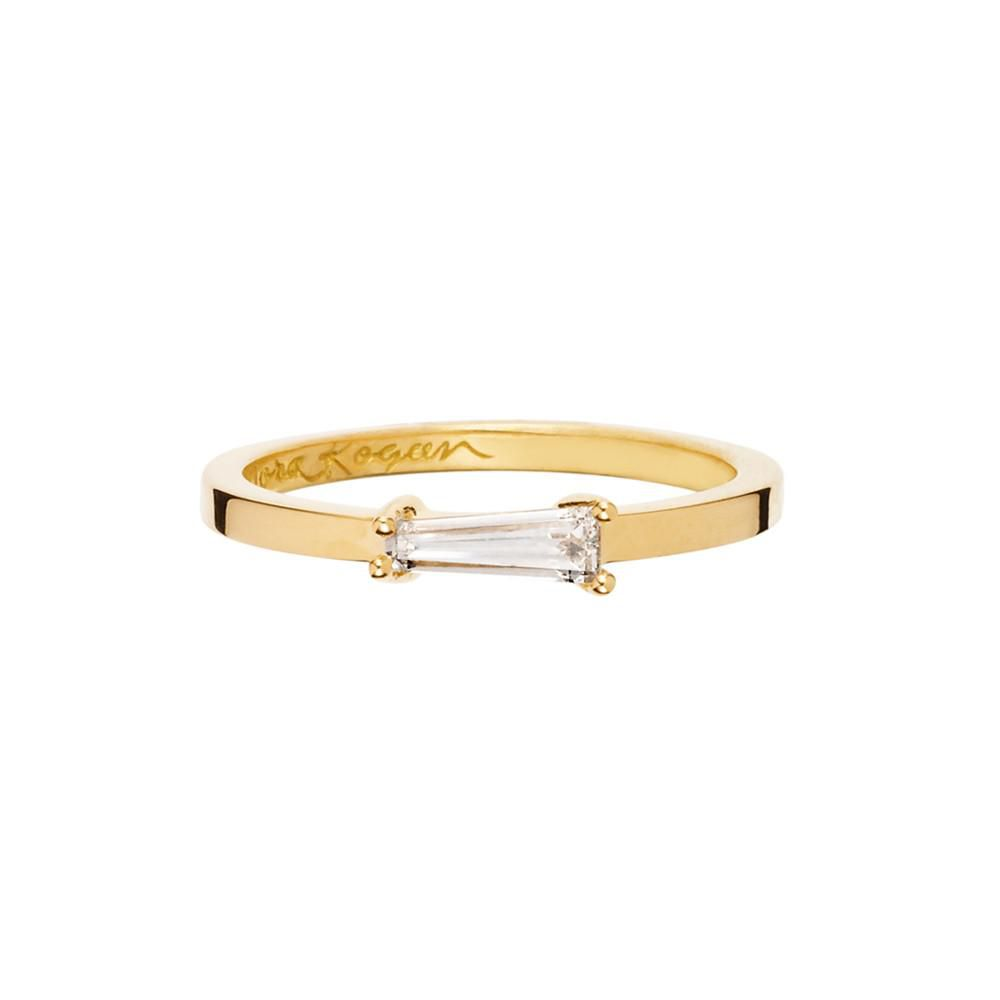 Simple modern engagement ring