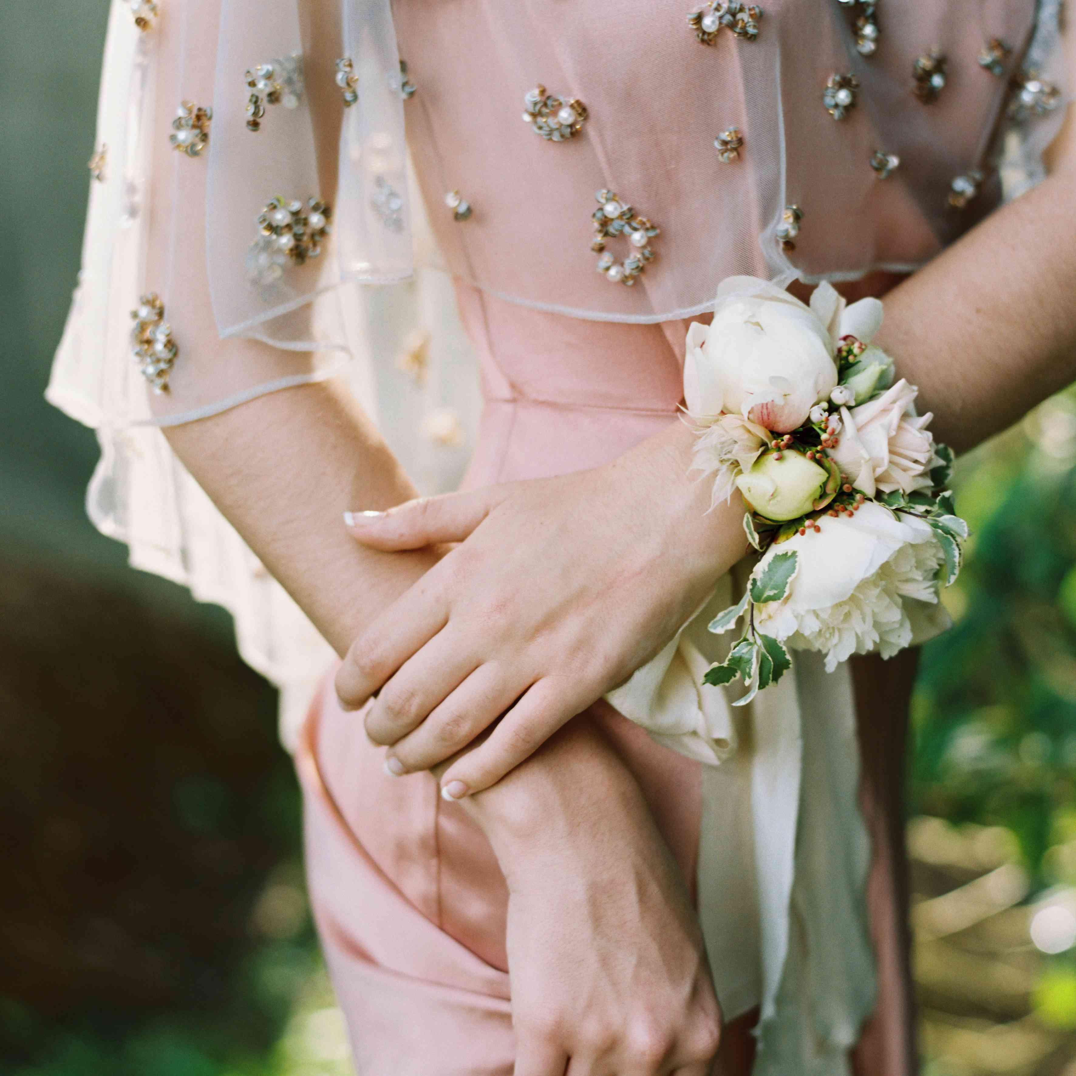 Corsage Wedding Bridal Corsage Guest Corsage Flower Corsage M Silver