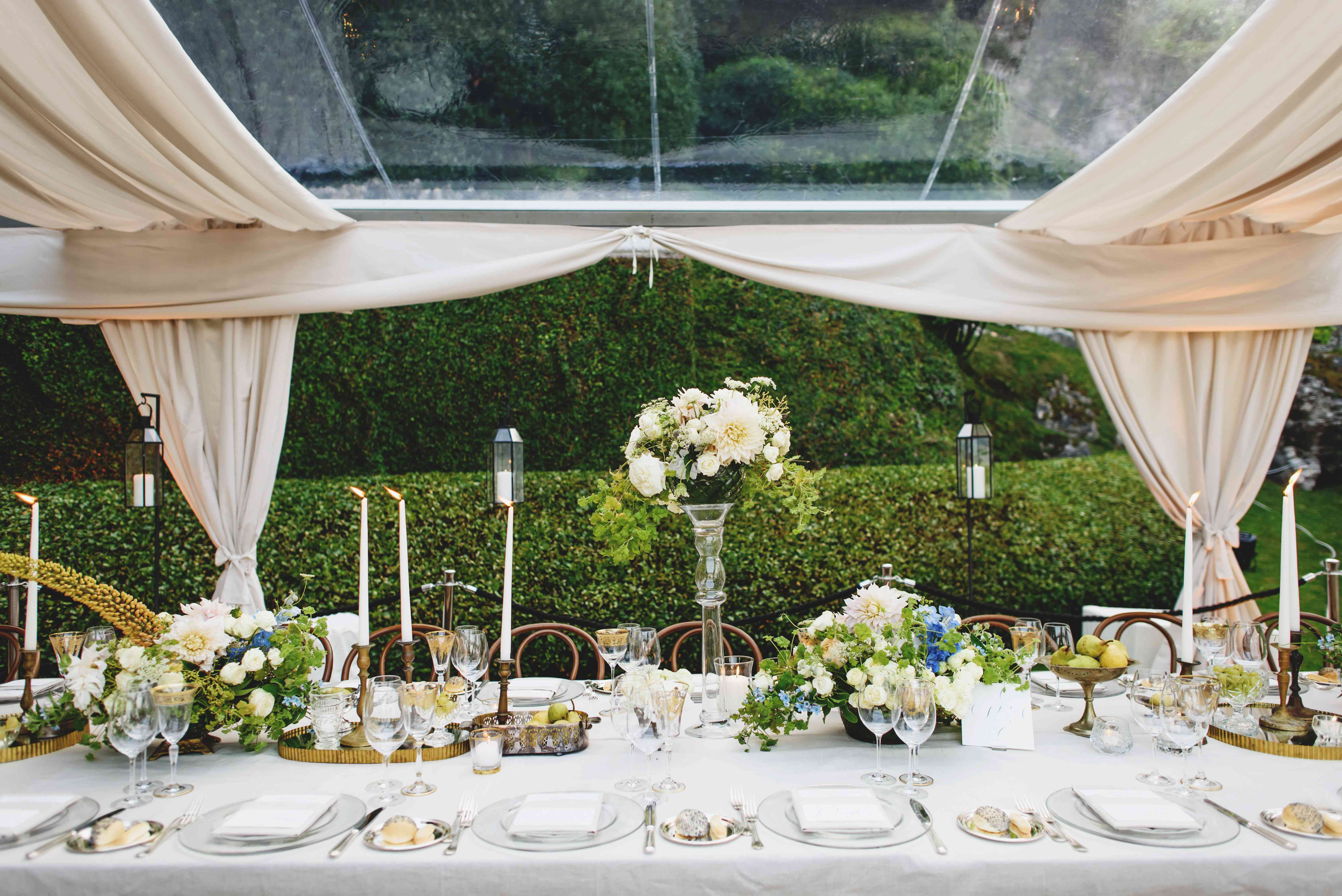 tented wedding reception tables