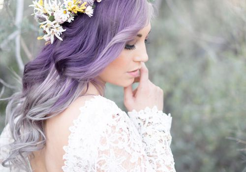 <p>Bride With Pastel Purple Hair</p>