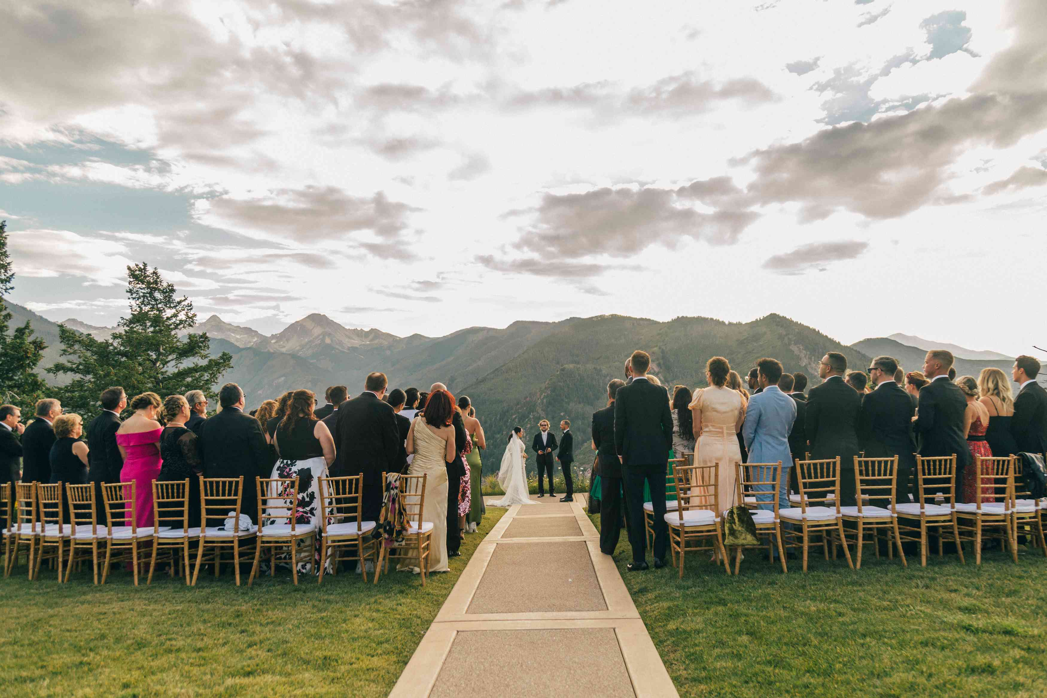 <p>Guests at wedding ceremony</p><br><br>