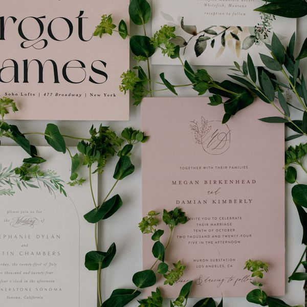 minted wedding invitatioins