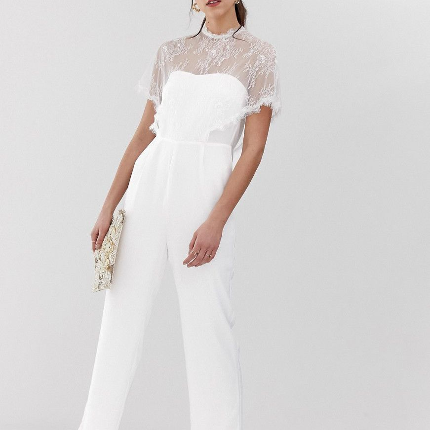 Simple Wedding Dresses Asos: 27 Wedding Jumpsuits For Every Budget And Style