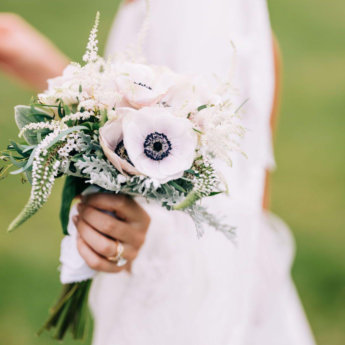 anemone wedding bouquet