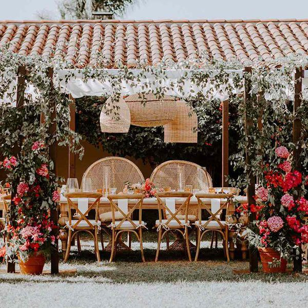 Summer wedding with florals