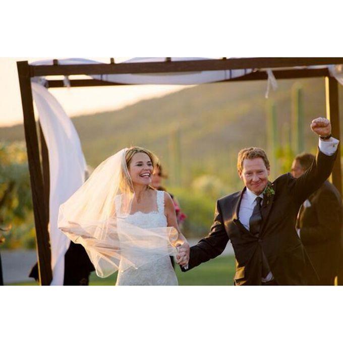 Savannah Guthrie marries Michael Feldman in Monique Lhuillier, 2014
