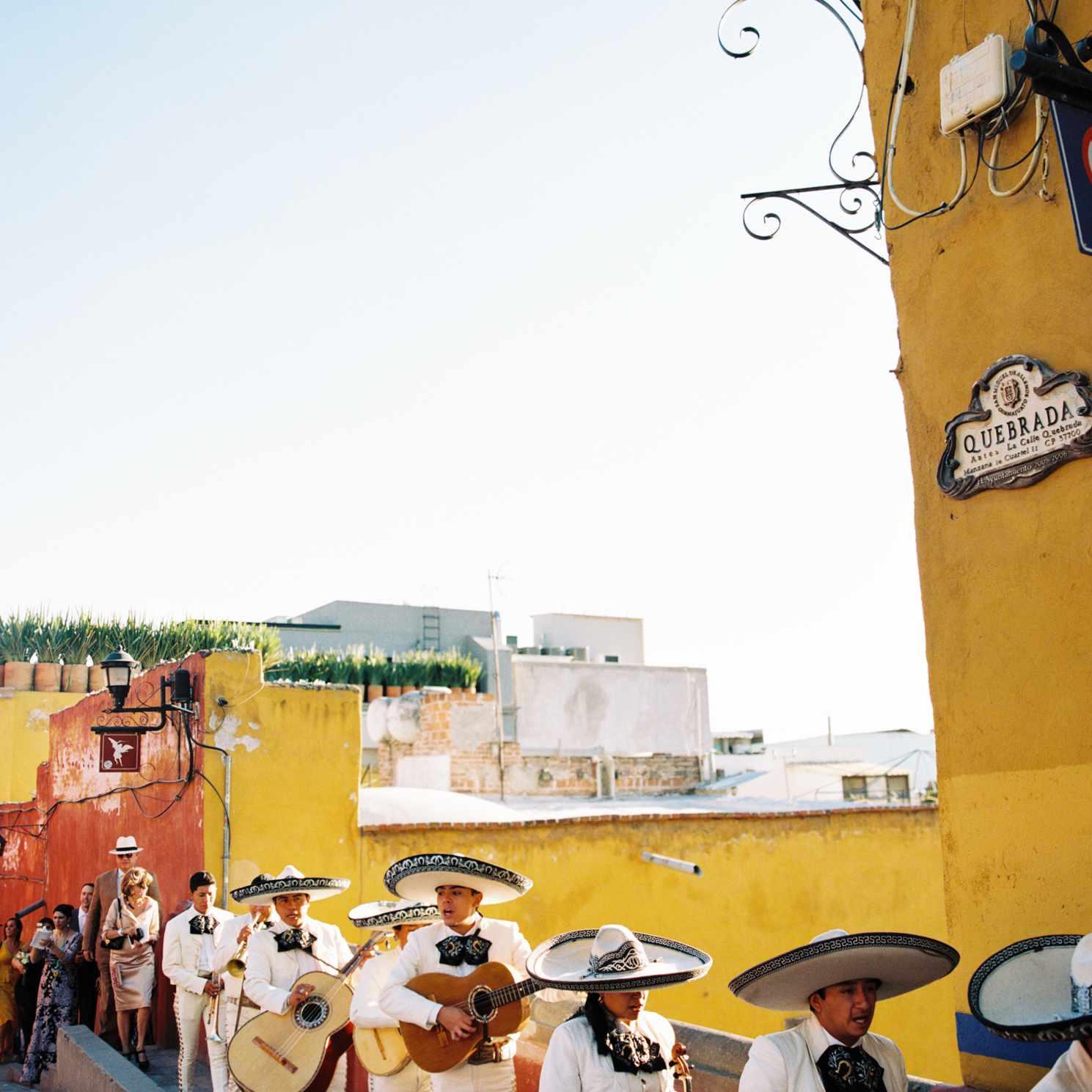 Mariachi band parade