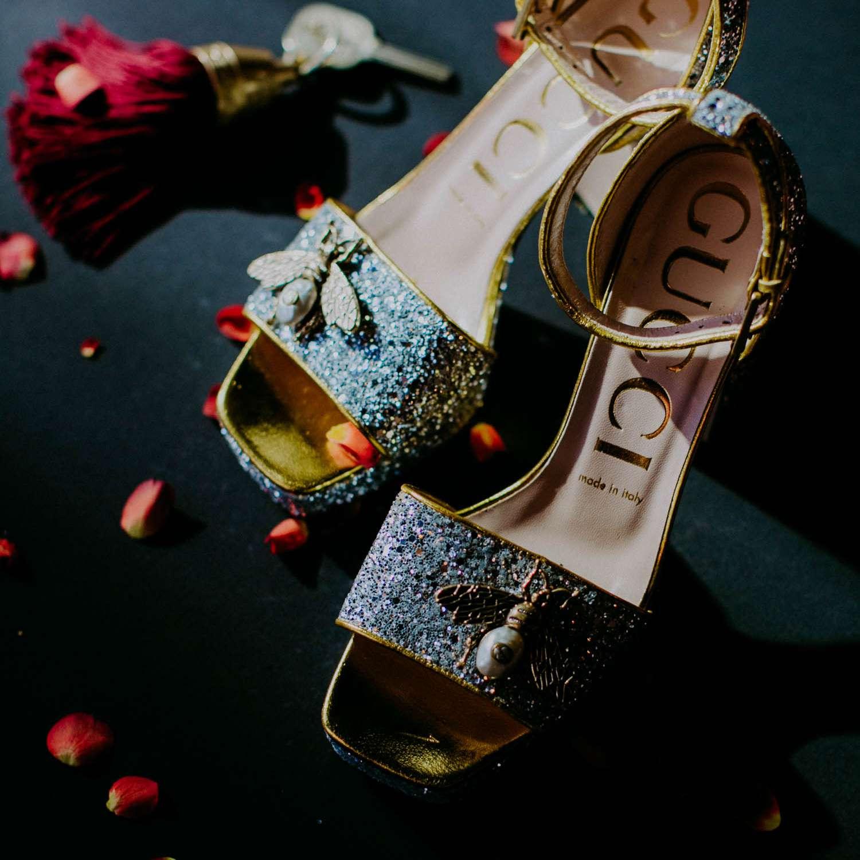 Bride's Gucci shoes
