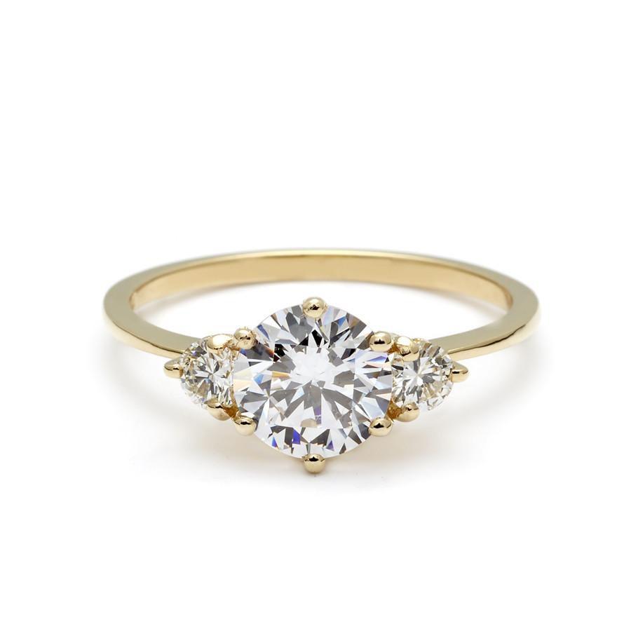 Anna Sheffield 3-Stone Hazeline Engagement Ring