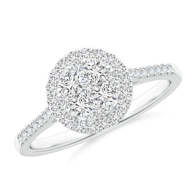 Angara Composite Diamond Halo Engagement Ring