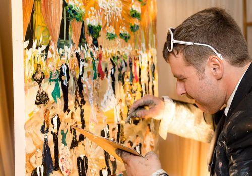 <p>Live Reception Painting</p>