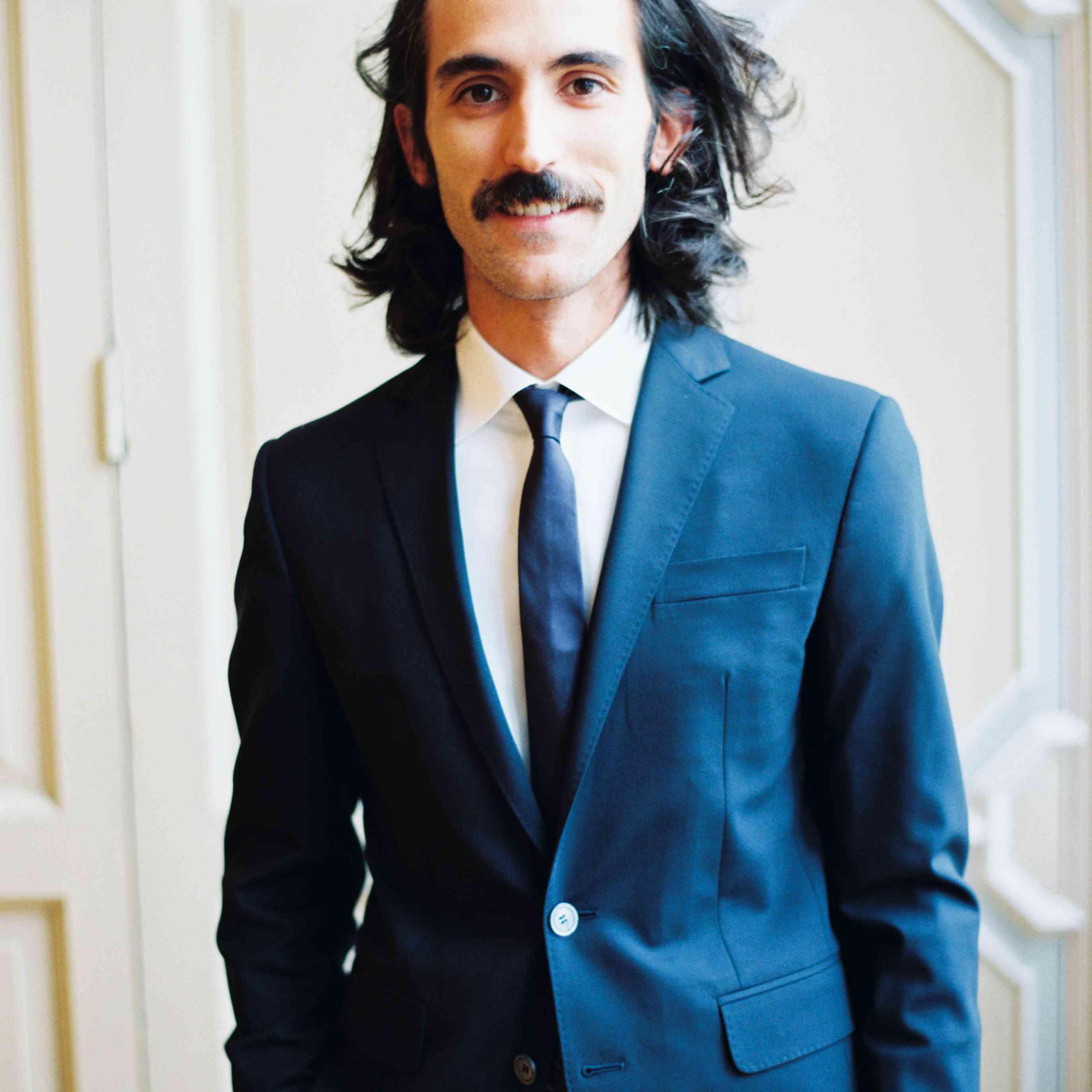 Northern Italian Wedding, Groom in Blue Suit