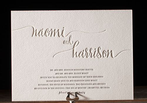 25 Typography Wedding Invitations We Love