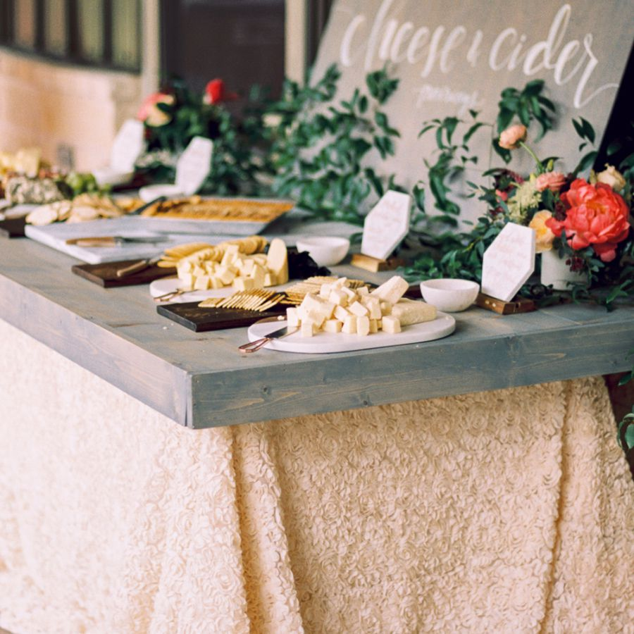 Cheese and cider grazing table