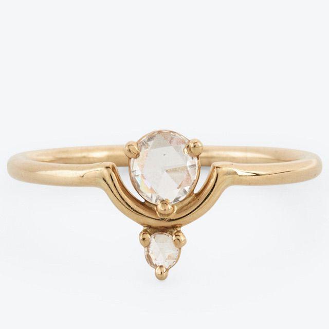 abc carpet & home Nestled Diamond Ring Gold