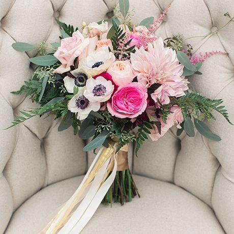 A romantic dahlia bouquet