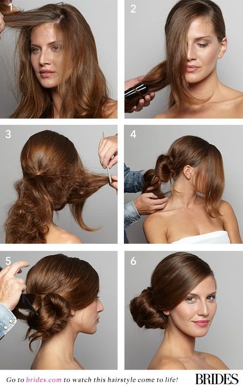 Wedding Hairstyle 101 How To Diy This Sleek Side Bun
