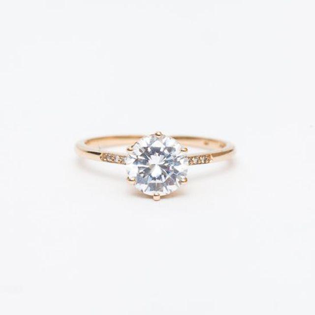 Anna Sheffield Round Hazeline Ring