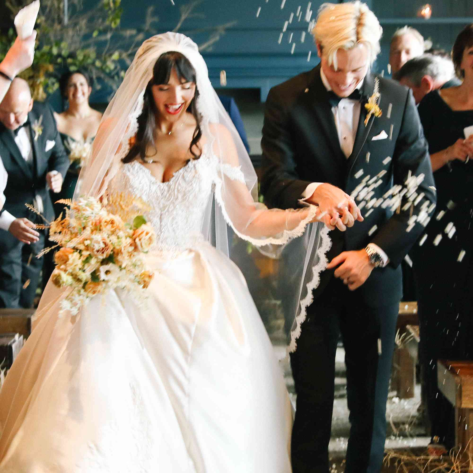 savannah and riker wedding, recessional