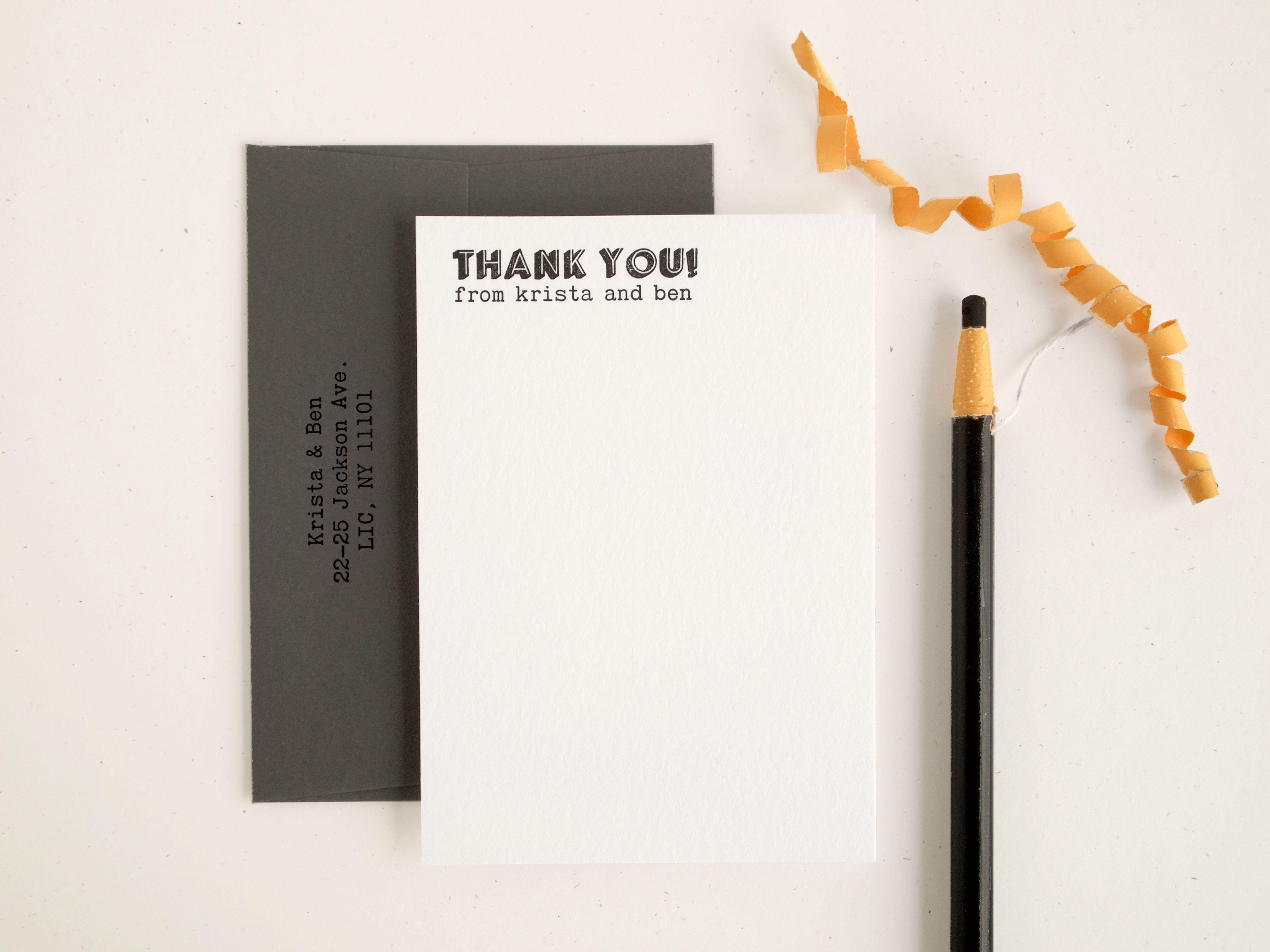 Wedding Thank You Card Wording Tips